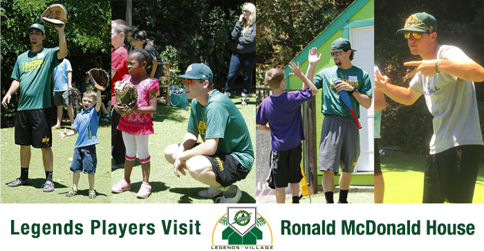 Legends players visit Ronald McDonald House