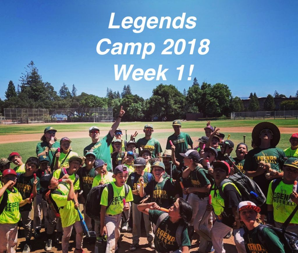 Menlo Park Legends Youth Baseball Camps Week 1
